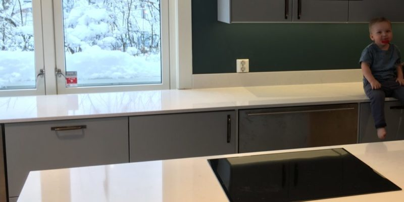 A polished or honed worktop?