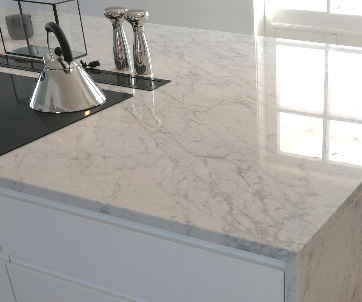 Picture of: Carrara Marble Kitchen Worktops Granitop