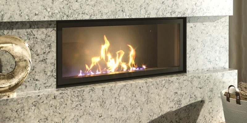 A beautiful marble fireplace is the heart of your home