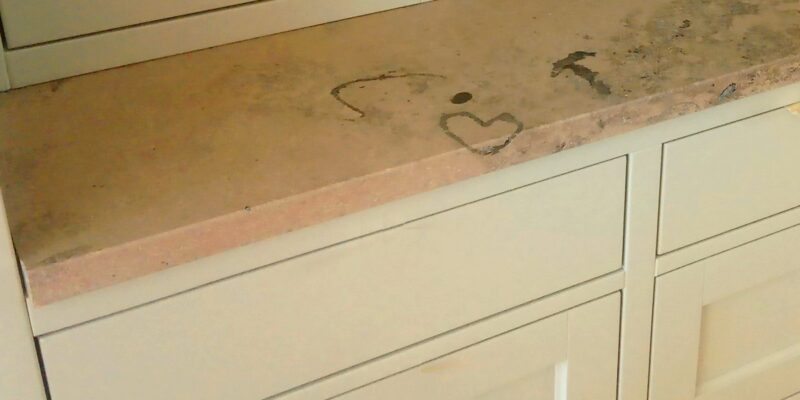 The traces of the creation of the Earth on Your kitchen worktop